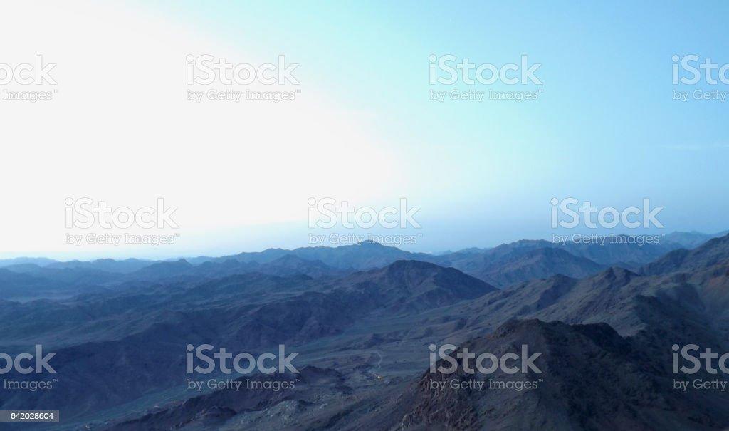 Sinai mountain morning view stock photo