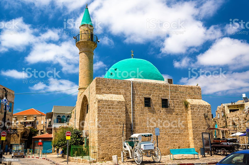 Sinan Basha Mosque in the old town of Acre - foto de acervo
