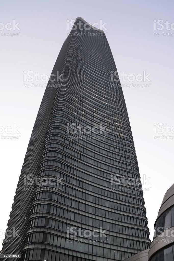 Sinar Mas Center skyscraper, Shanghai stock photo