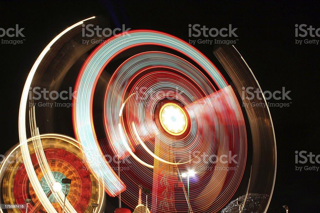 Sinbad and Ferris Wheel at night royalty-free stock photo