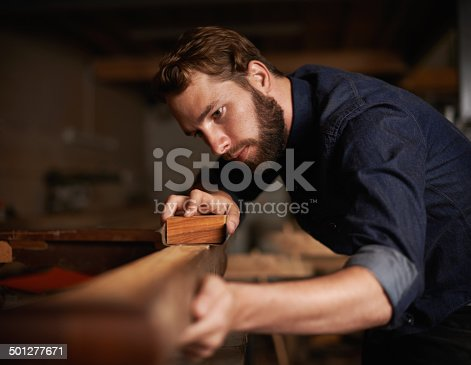 istock Since opportunity didn't knock, he decided to build a door 501277671