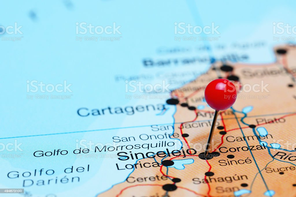 Sincelejo Pinned On A Map Of America Stock Photo IStock - Sincelejo map