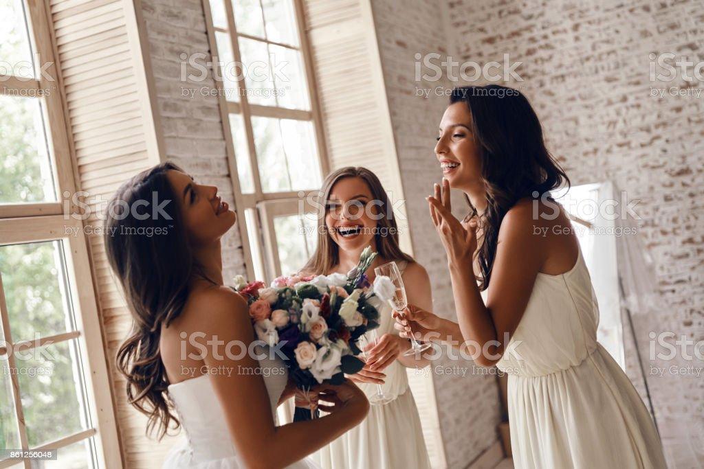 Sincere joy. stock photo
