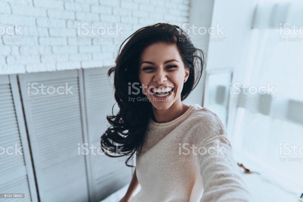 Sincero sonrisa. - foto de stock