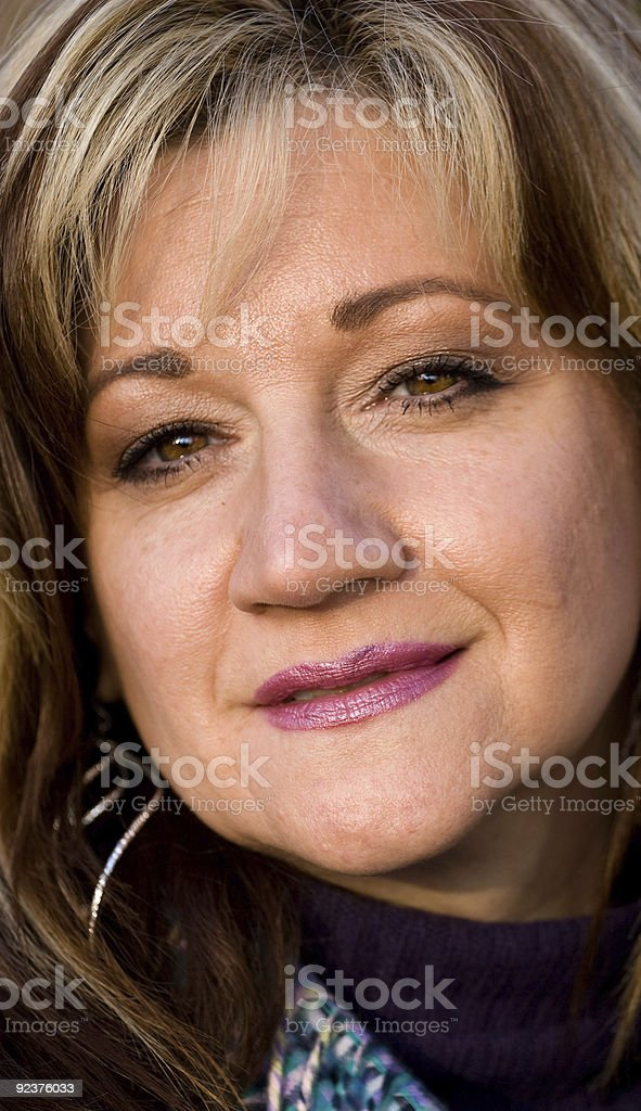 Sincere Smiling Woman royalty-free stock photo