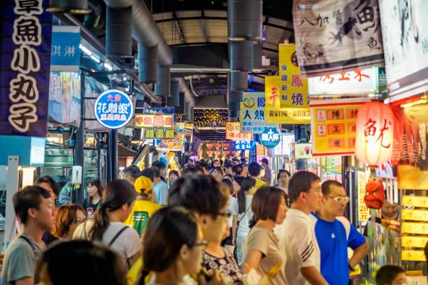 Singen Sie Ren Nachtmarkt in Shulin Stadt. – Foto
