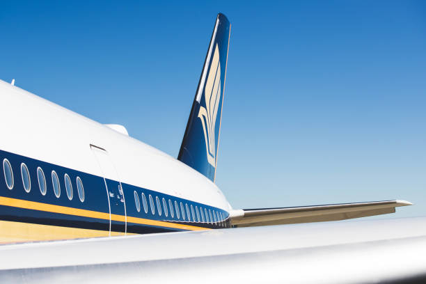 Singapore Airlines Airbus A350 stock photo