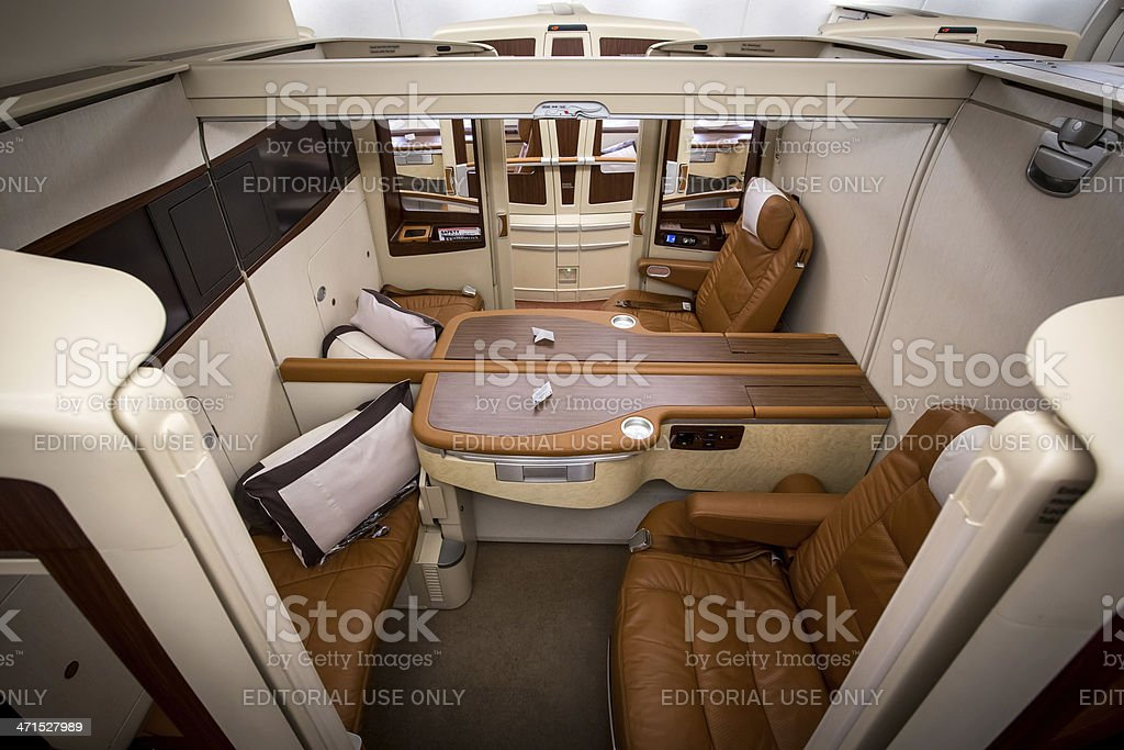 Singapore Airlines First Class Suites stock photo