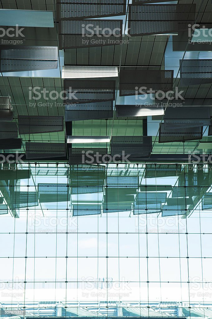 Singapore Airport, Departure Hall stock photo
