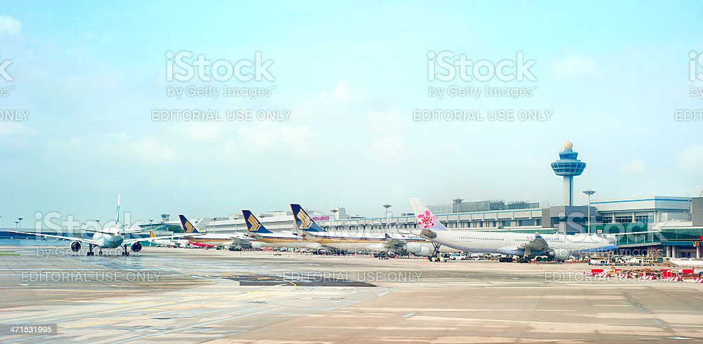 Singapore airport stock photo