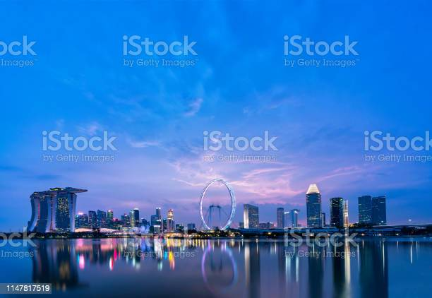 Photo of Singapore at Blue hour