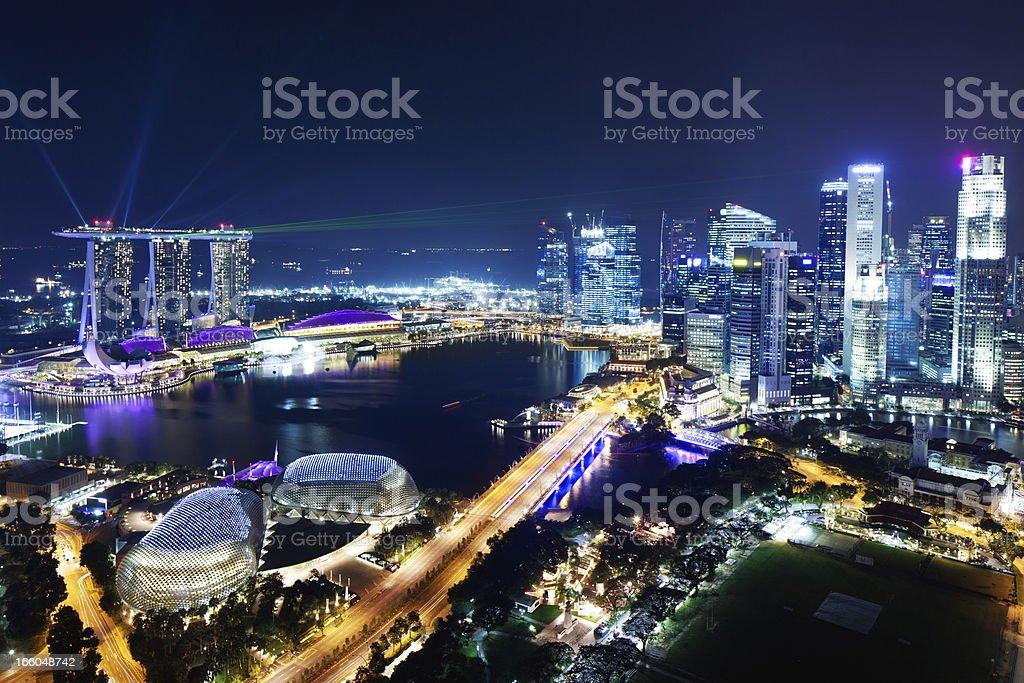 Singapore at Night stock photo