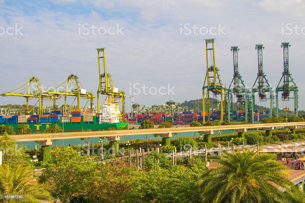 Singapore bay Port Klang,Port of Tanjung Pelepas stock photo