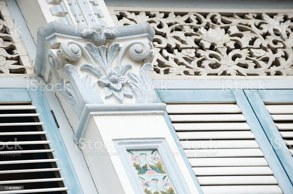 Singapore British Colonial Architecture royalty-free stock photo