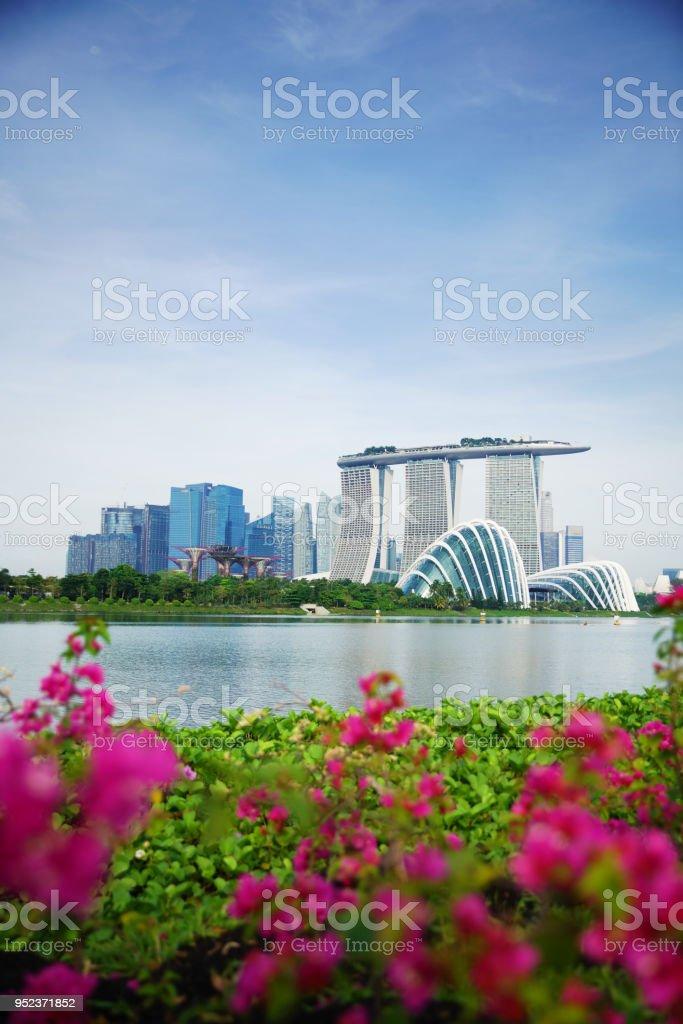 Singapur-Geschäftsviertel und Stadt am Tag in Singapur, Asien – Foto