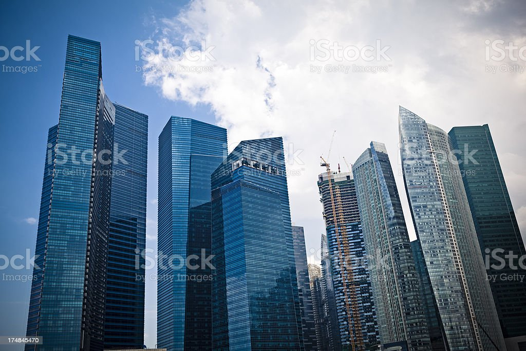 singapore business district royalty-free stock photo