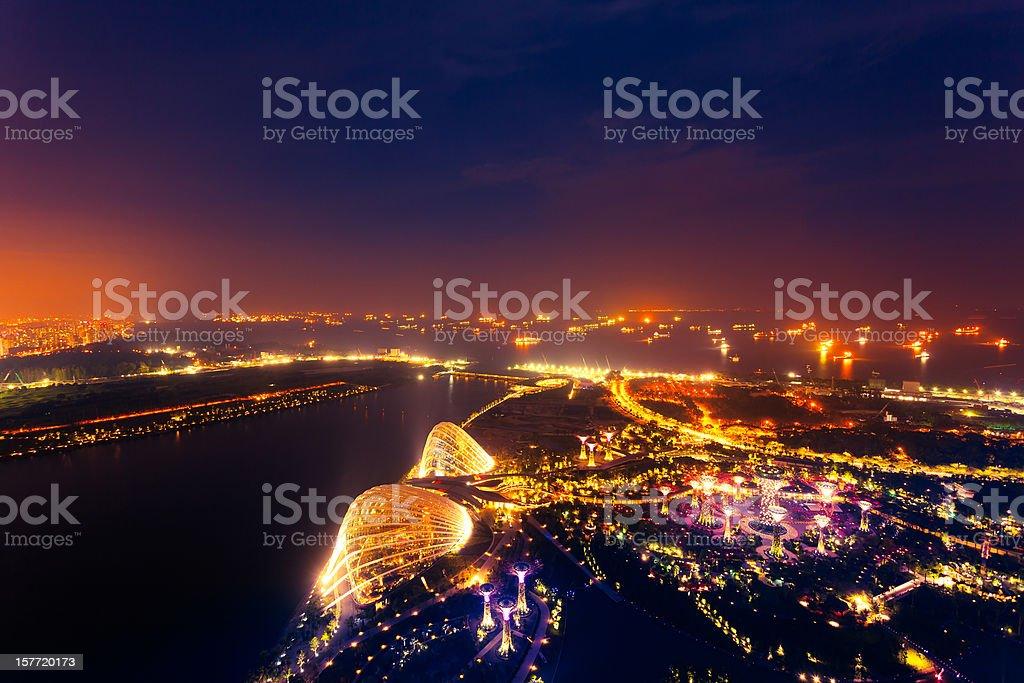 Singapore by Night royalty-free stock photo