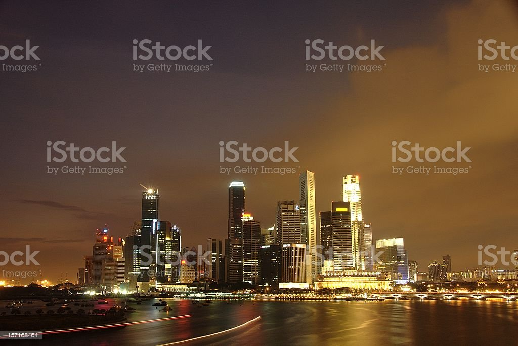 Singapore CBD Skyline (2005) royalty-free stock photo