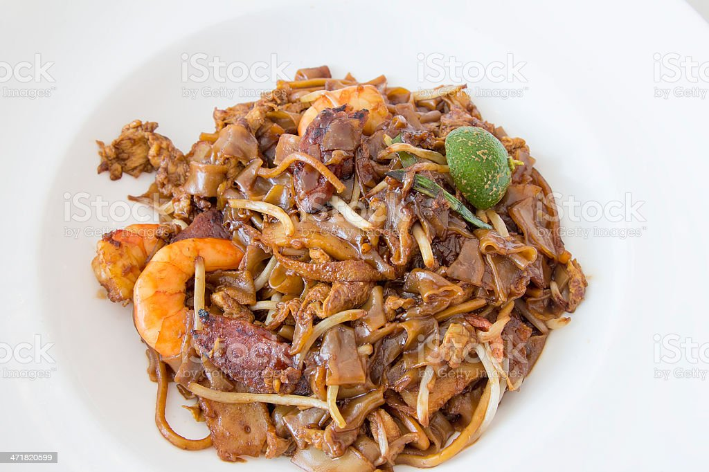 Singapore Char Kway Teow royalty-free stock photo