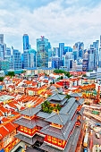 istock Singapore Chinatown With Financial District in Background 1250492098