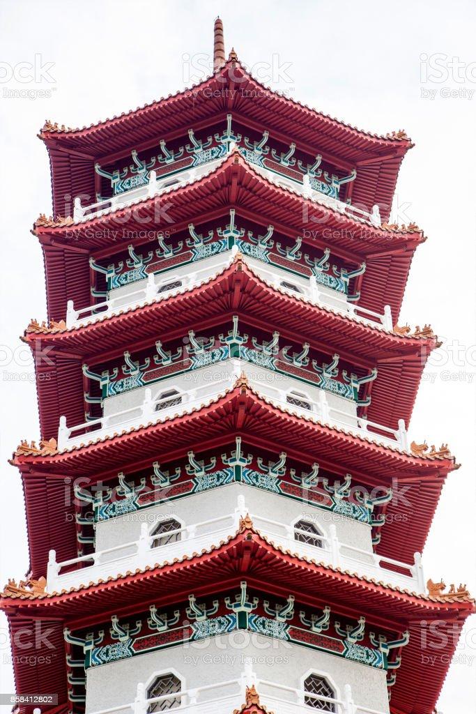 Singapore Chinese Garden Pagoda stock photo