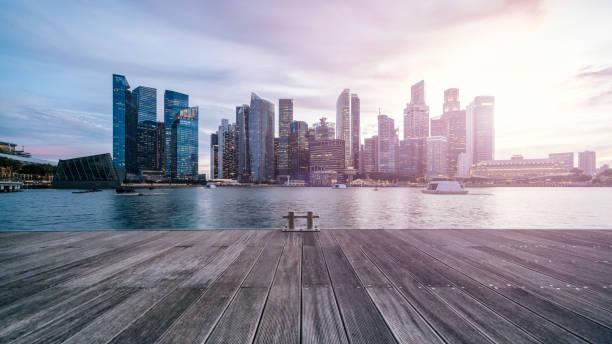 Singapur Stadt Sonnenuntergang – Foto
