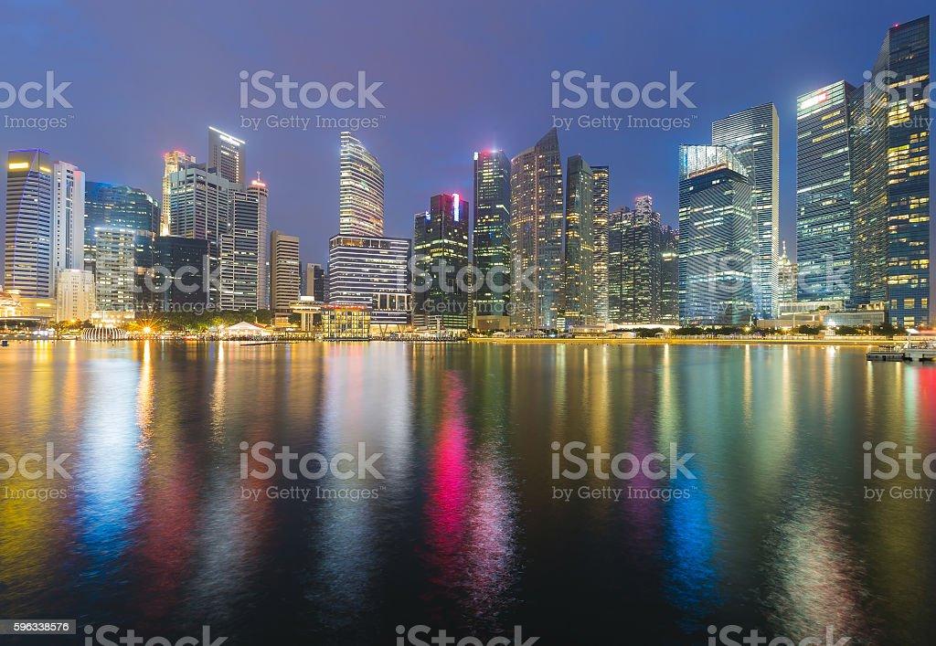 Singapore city central business area waterfront Lizenzfreies stock-foto