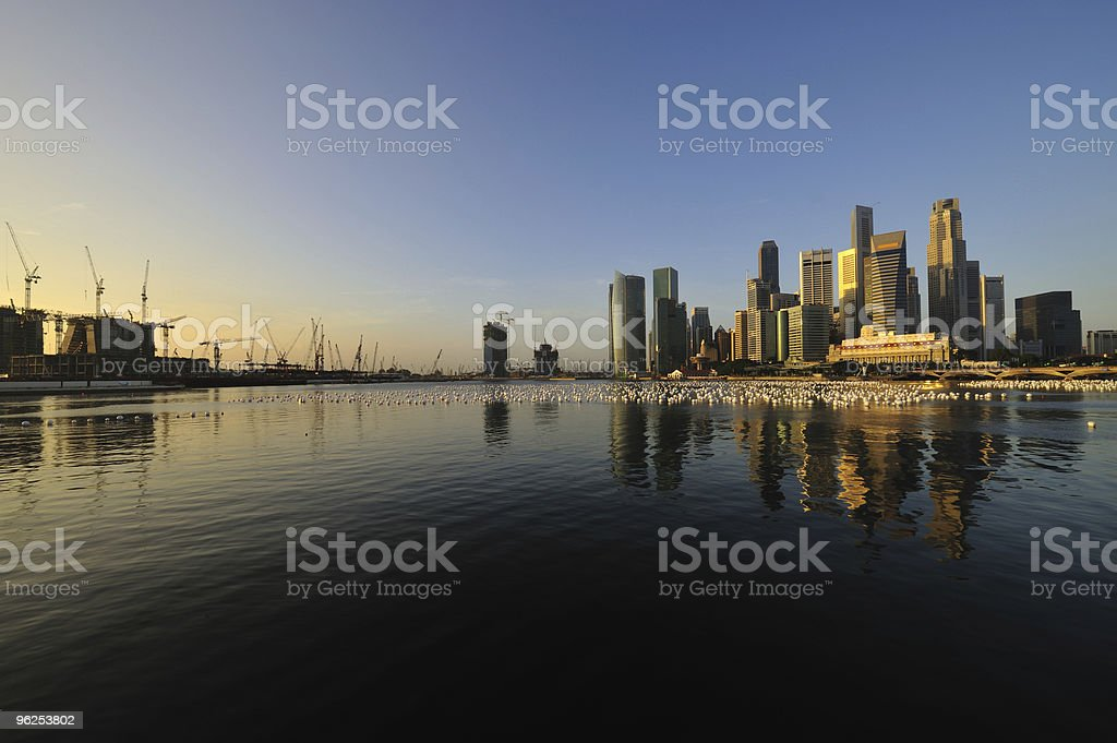 singapore city in the morning - Royalty-free Asia Stock Photo