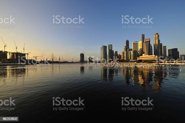 Foto de Cidade De Singapura Da Manhã e mais fotos de stock de Azul