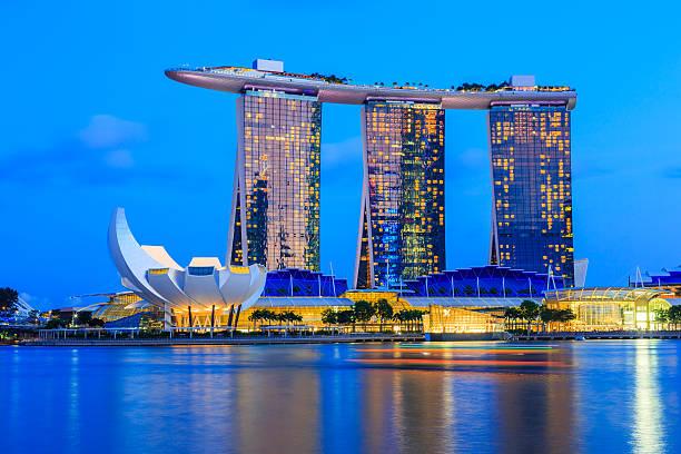 singapore city, singapore. - marina bay sands stock photos and pictures