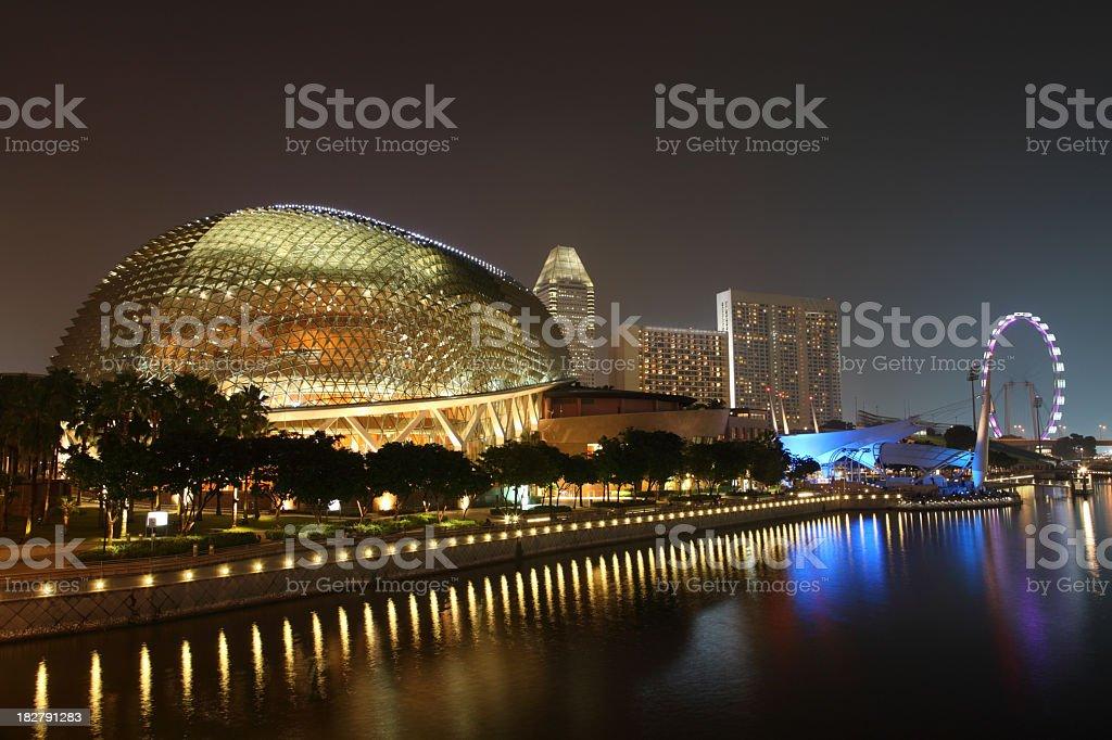 Singapore city skyline at night royalty-free stock photo