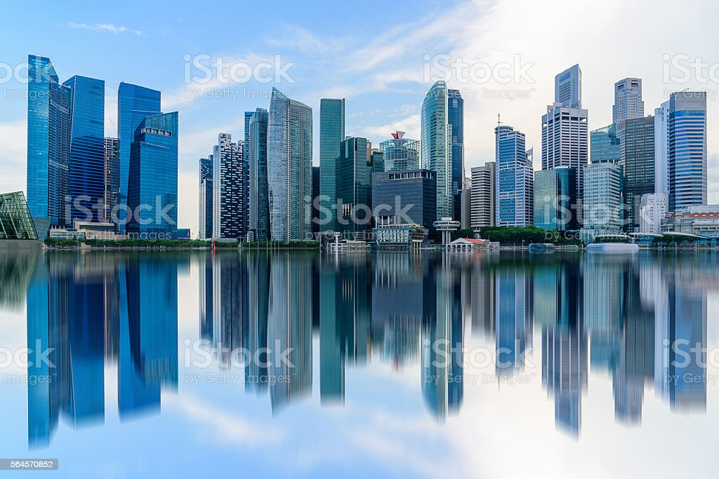 Singapore city skyline of business district downtown in daytime. – Foto