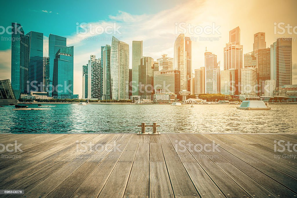 Singapore city skyline of business district downtown in daytime. royalty-free stock photo
