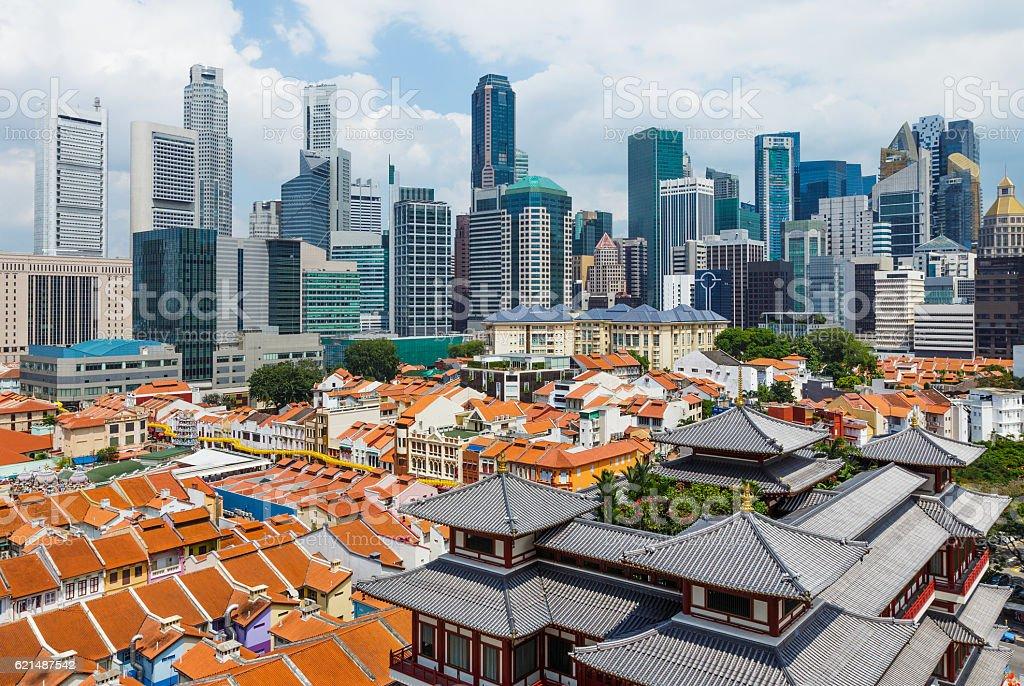 Ville de Singapour photo libre de droits