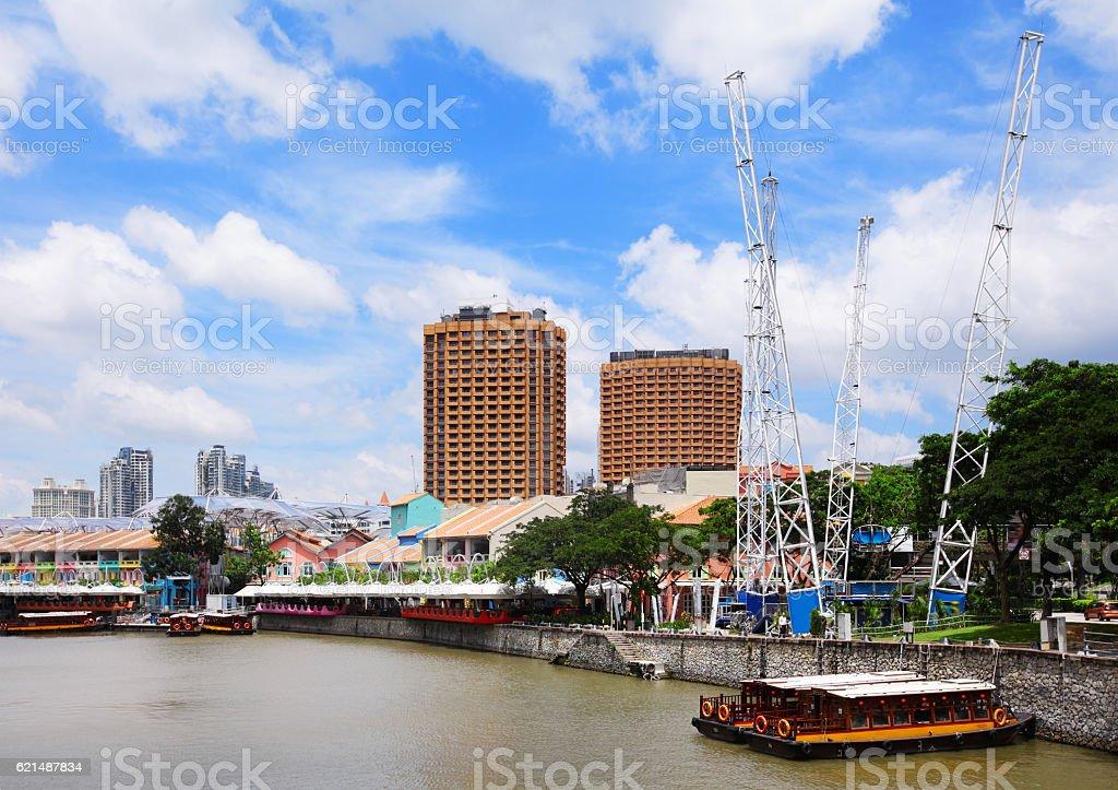 skyline della città di Singapore foto stock royalty-free