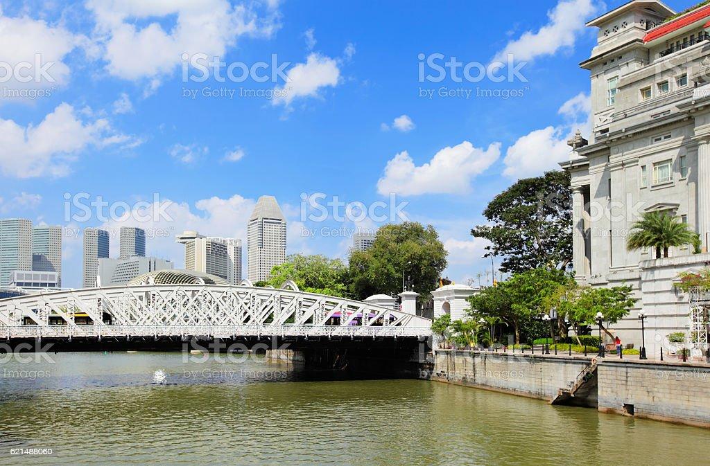 Singapur skyline der Stadt Lizenzfreies stock-foto