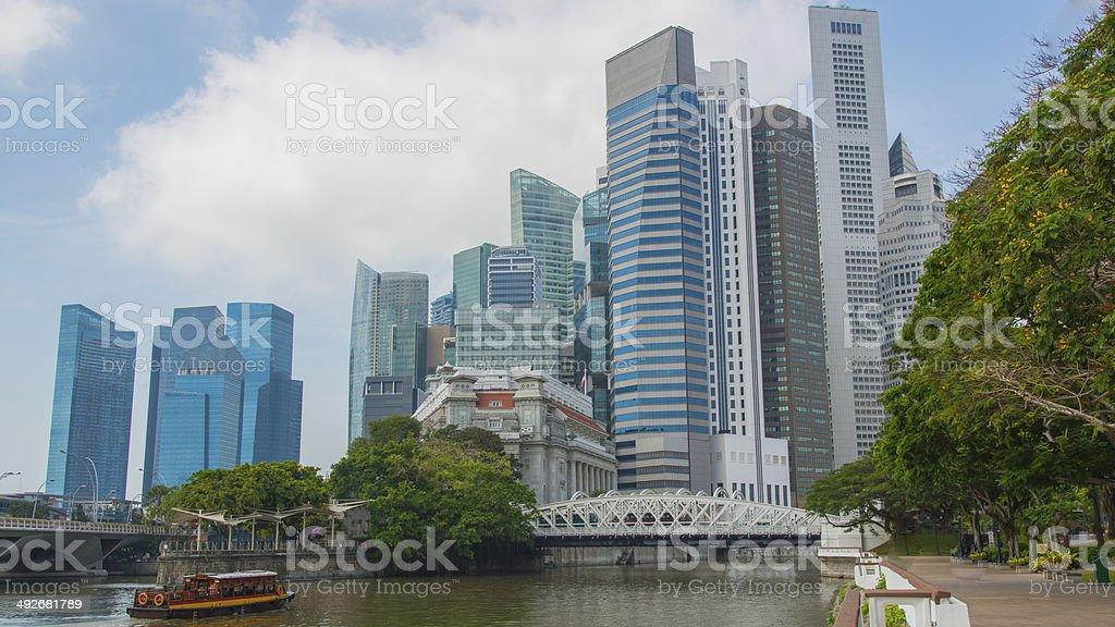 Singapore cityscape financial district