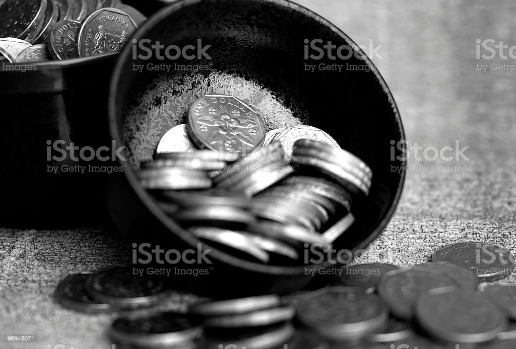 Singapore Coins royalty-free stock photo