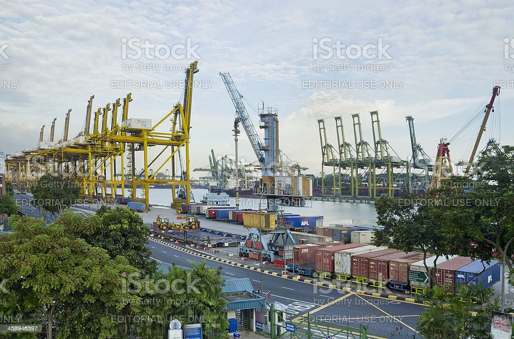 Singapore Container Port stock photo