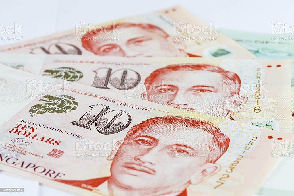Singapore Dollars Note stock photo
