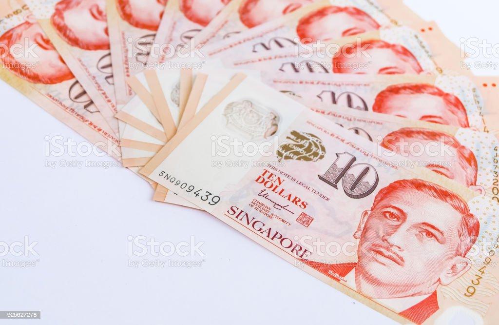 Singapore Dollars stock photo