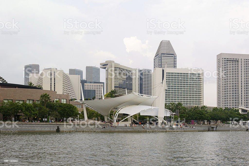 Singapore embankment royalty-free stock photo