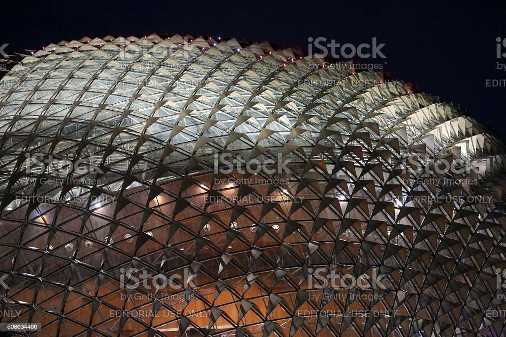 Singapore: Esplanade - Theatres on the Bay stock photo