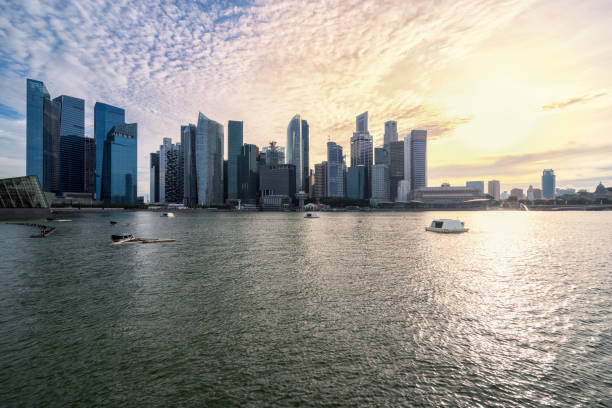 Singapur Financial Center City Scenery – Foto