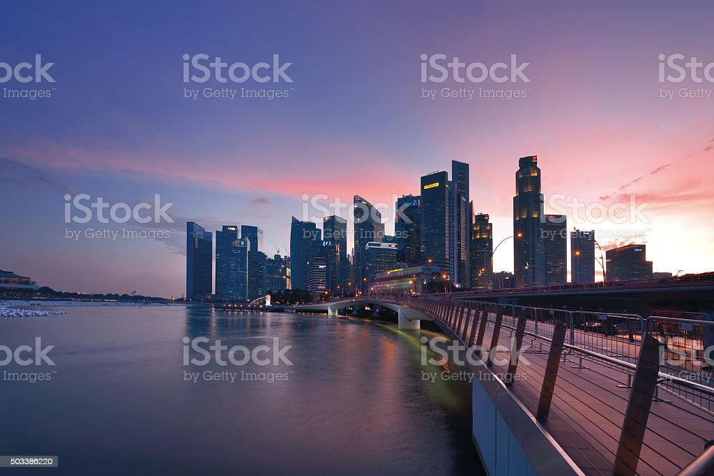 Singapore Financial District stock photo