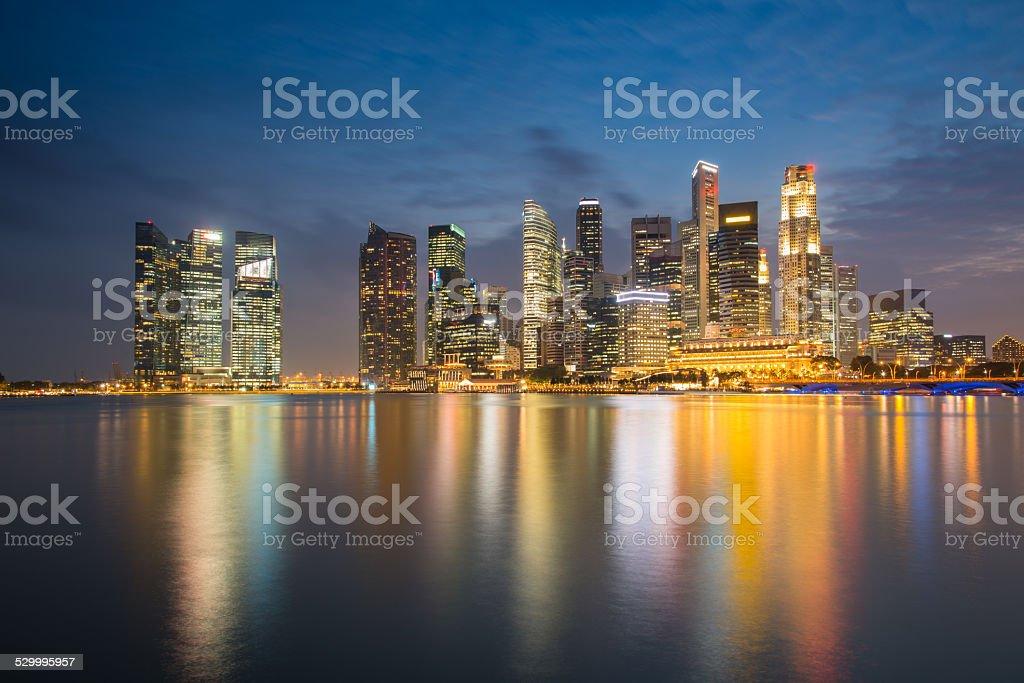 Singapore financial district stock photo