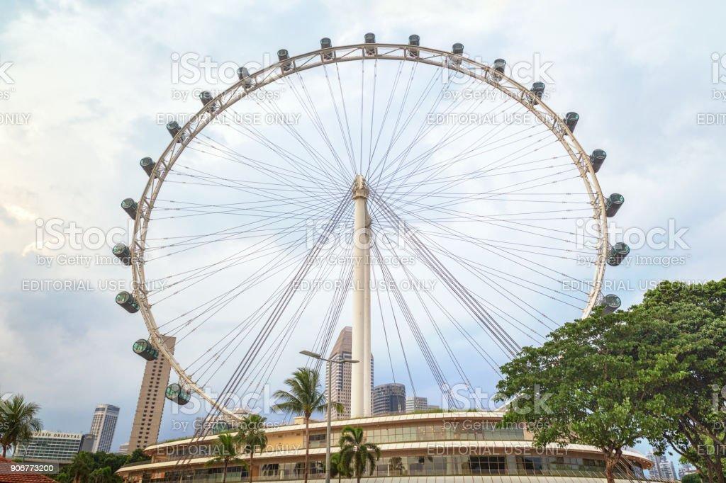 Singapore Flyer stock photo