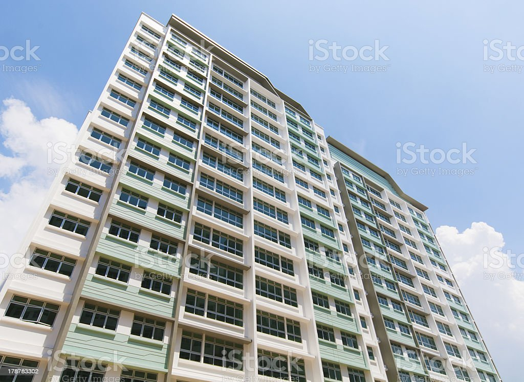 Singapore Government appartments royalty-free stock photo