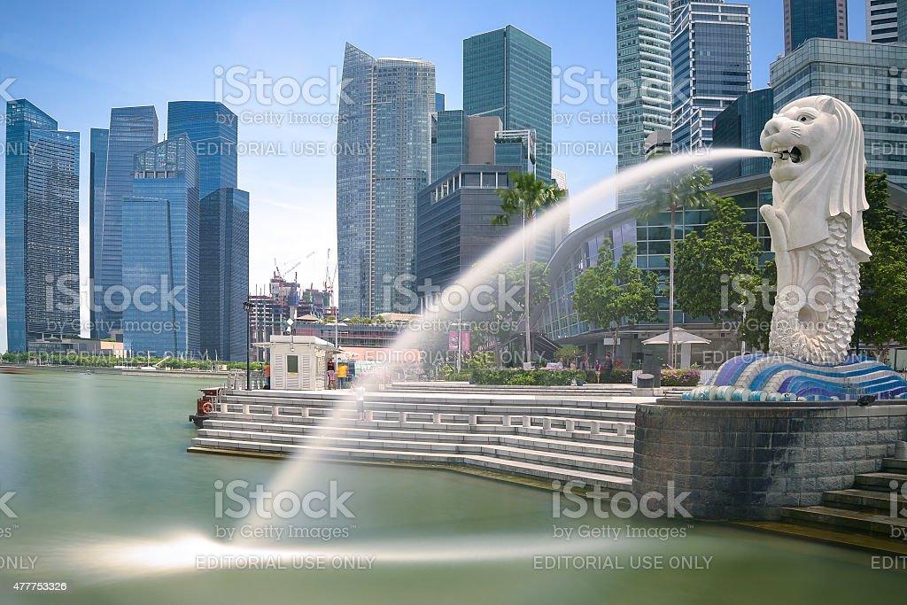 Singapore landmark Merlion stock photo