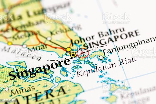 Singapore map close up